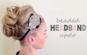 updos tutorial beaded headband