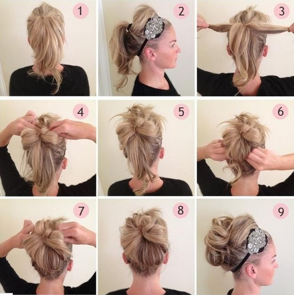 Updos Tutorial Beaded Headband Updo Hairstyle For Prom PoPular