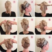 updos tutorial beaded headband