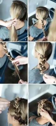 simple braided crown hairstyle