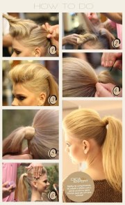 easy high ponytail hairstyle tutorial