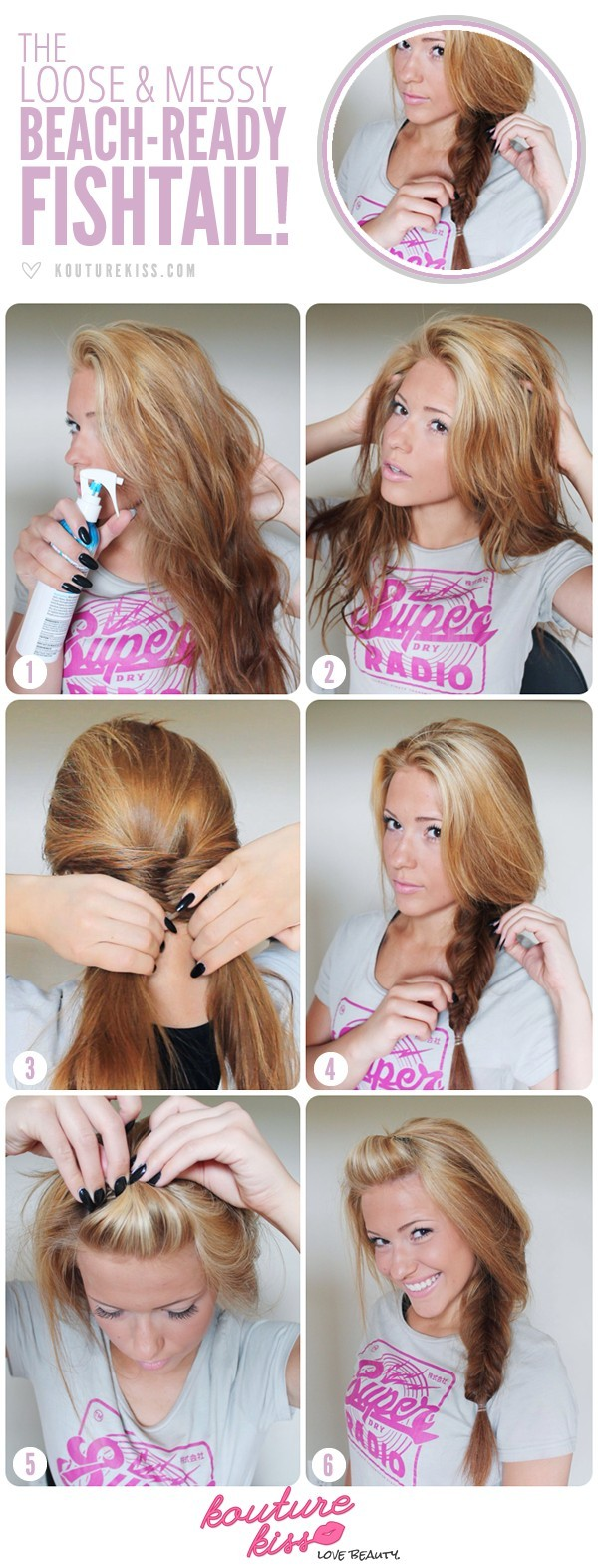 Side And Messy Fishtail Braid Tutorial Beach Hairstyles PoPular