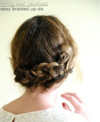 Simple Braided Updo Hairstyle Tutorial: Updos for Medium ...