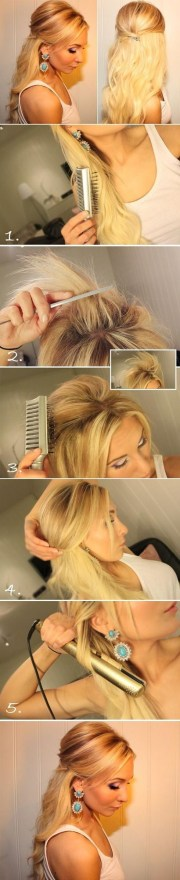 teased hairstyle