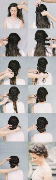twist updo hairstyles with braids