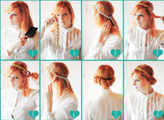 Vintage Updo Hairdo Tutorial Easy Updo Hairstyles For Prom