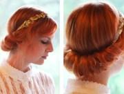 vintage updo hairdo tutorial easy