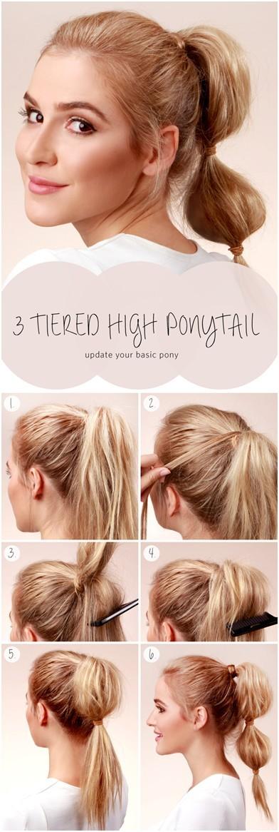 10 Ways To Make Cute Everyday Hairstyles Long Hair Tutorials