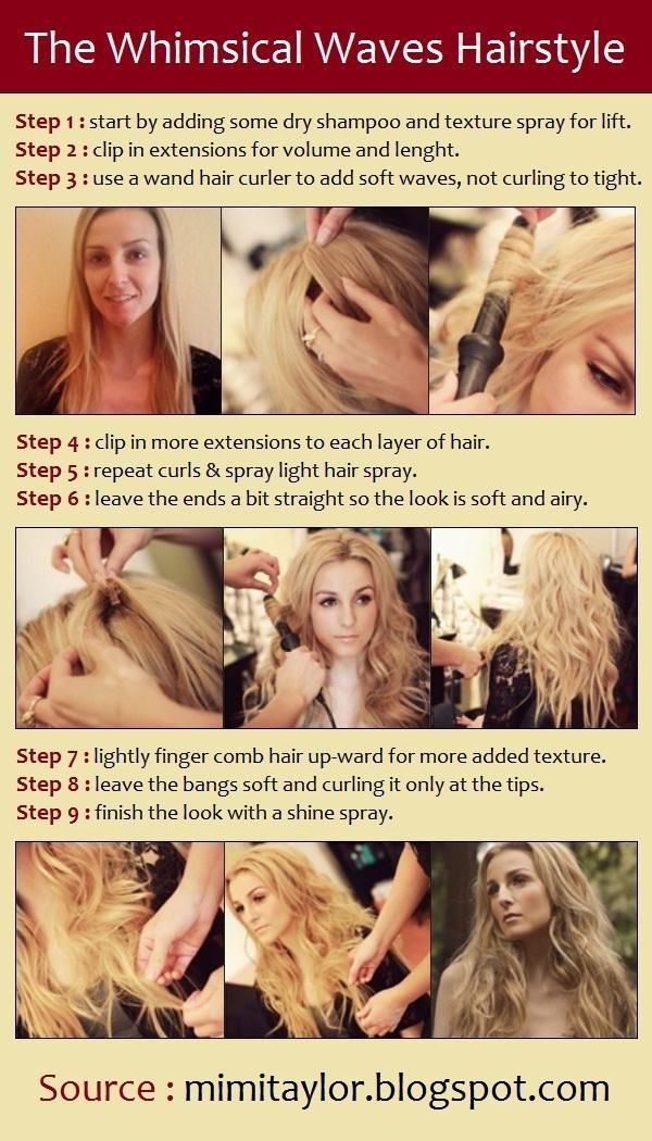 Trendy Waves Hairstyle Tutorial Long Hair  PoPular Haircuts