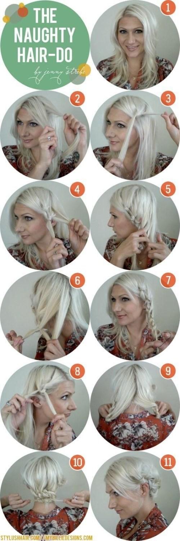 How to Do A Side Braid Messy Bun Updos