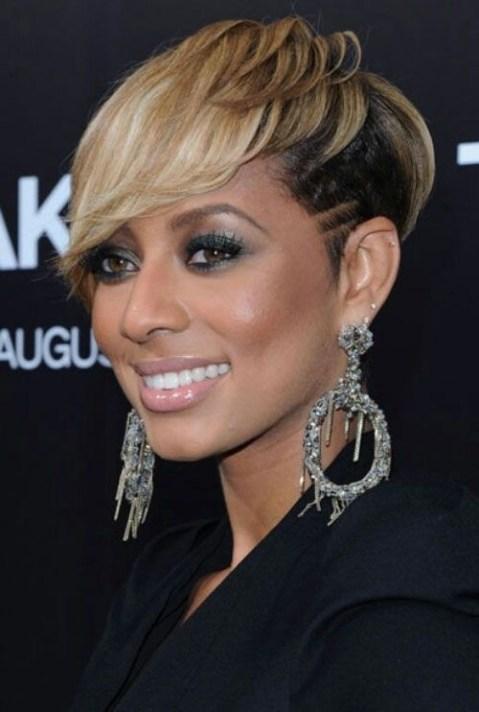 Best Short Hairstyles for Black Women: Keri Hilson Short Hair Style