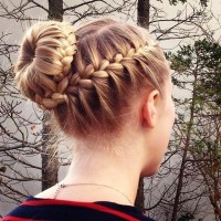 15 Braided Bun Updos Ideas - PoPular Haircuts