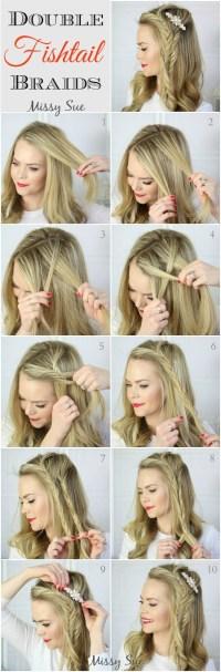 10 French Braids Hairstyles Tutorials: Everyday Hair