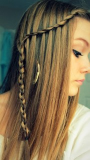 waterfall braids hairstyle