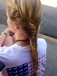 French Fishtail Ponytail Hairstyles: Summer to Fall Hairstyles