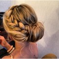 Loose updos with braids pairs with loose braid