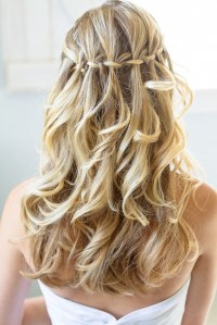 Waterfall Braid With Updo