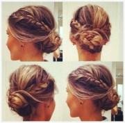trendy messy braid bun updos