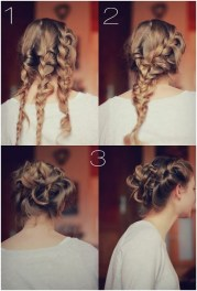trendy messy braid bun updos