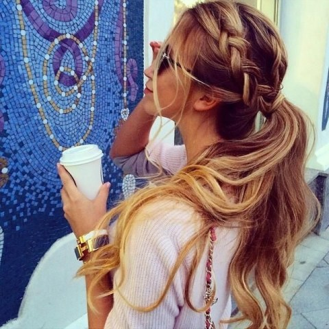 Braid, Messy Ponytail for Summer: Women Hairstyles