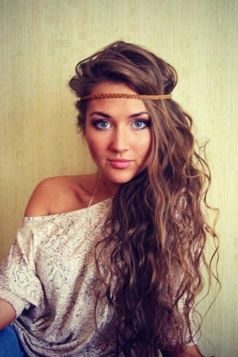 Cute Long Hair Style with Headband