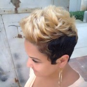black and blonde hairstyles