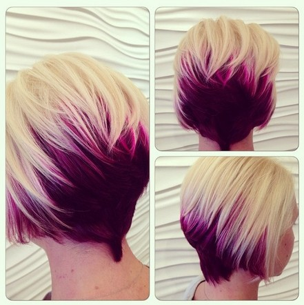 Red Blonde Ombre Short Hair