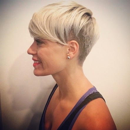 Image result for blonde hair long on top shaved sides