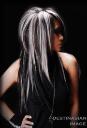 hair with blonde highlights