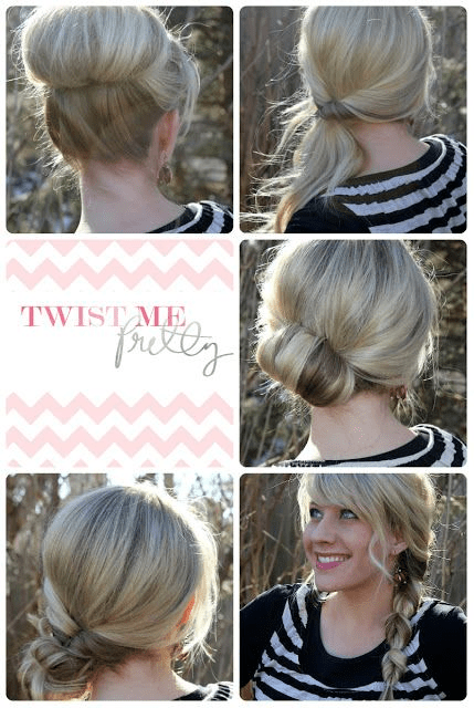 18 Quick And Simple Updo Hairstyles For Medium Hair PoPular Haircuts