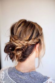 fresh updo medium length