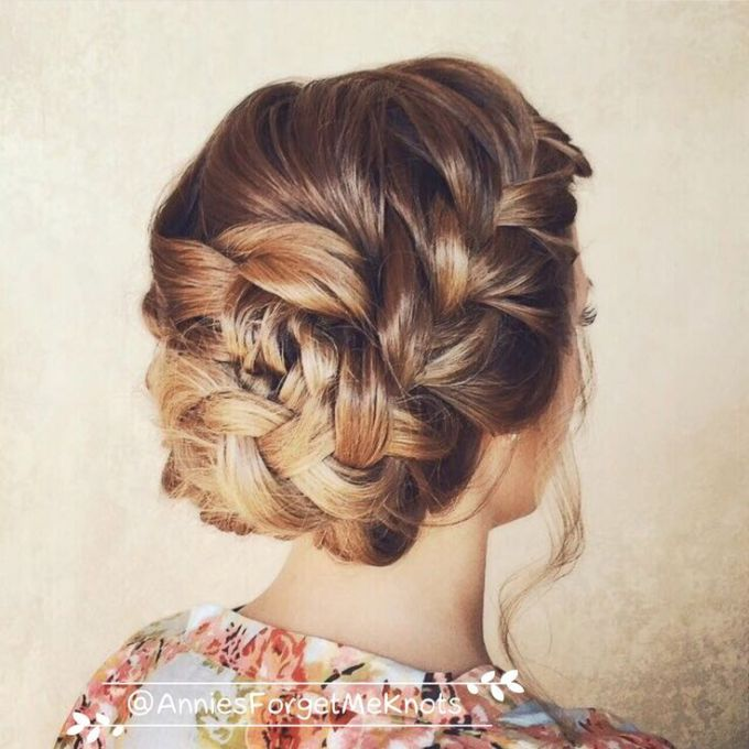 Fashion week Hairstyles prom front and back view photo for lady