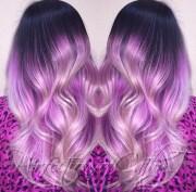 gorgeous pastel purple hairstyle