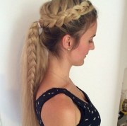 adorable french braid ponytails