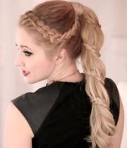 cute braided ponytail styles