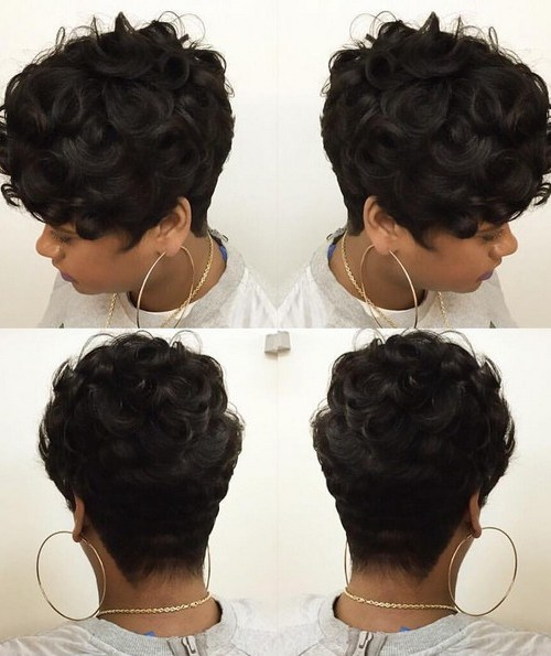 Gorgeous Wavy& Curly Pixie Haircut