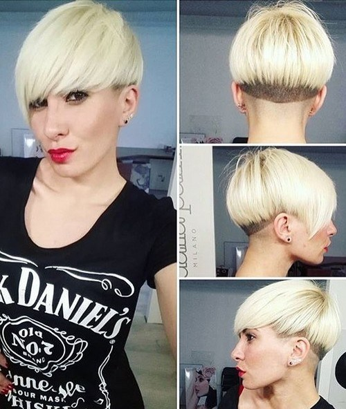 Blonde Bowl Cut - Women Short Hairstyles with bangs