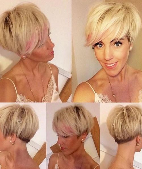 Blonde, Long Pixie Haircuts
