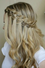 pretty waterfall french braid