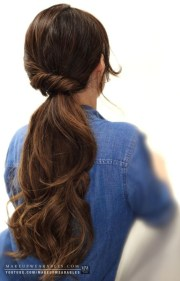 easy ponytail hairstyles long