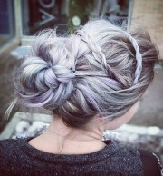 pretty messy updos long