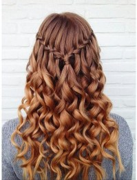 10 Pretty Waterfall French Braid Hairstyles: Different ...