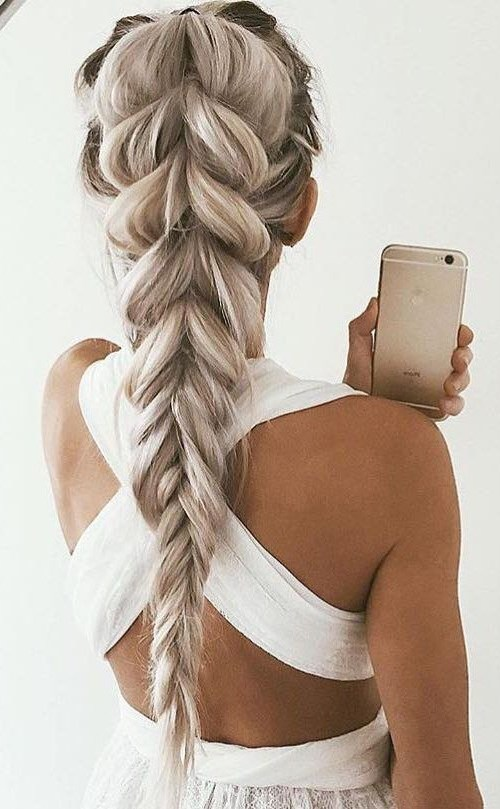 Thick Braids with Ash Blonde