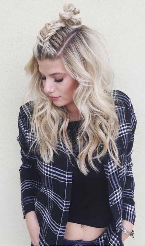 fishtail braid twist on the popular topknot hairstyle