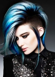 intriguing blue hairstyles