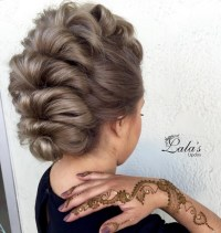 27 Trendy Updos for Medium Length Hair: Updo Hairstyle ...