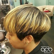 chic wedge hairstyle design