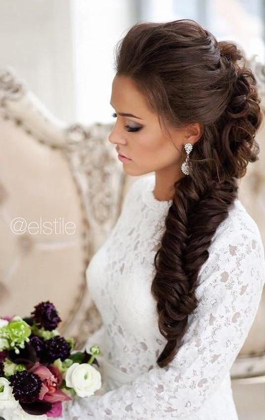 10 Pretty Braided Hairstyles for Wedding  Wedding Hair Styles with Long Hair