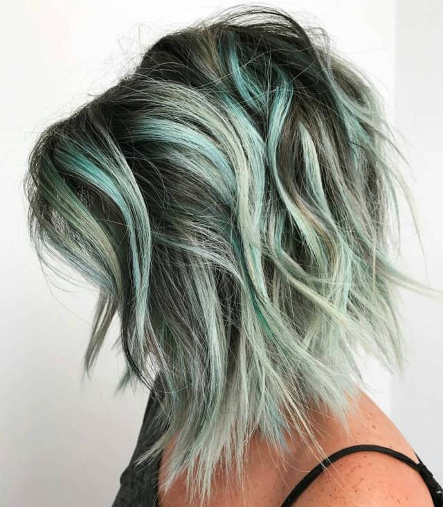 10 choppy haircuts for short hair in crazy colors 2019