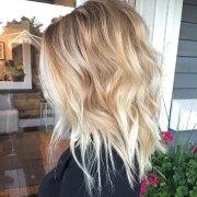 wavy lob hair styles - color